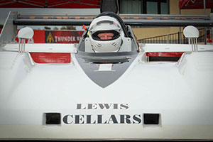 Randy driving the Lewis Cellars car